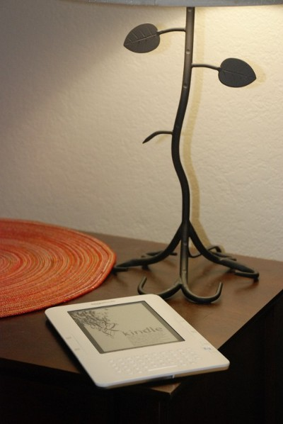 Kindle on my table